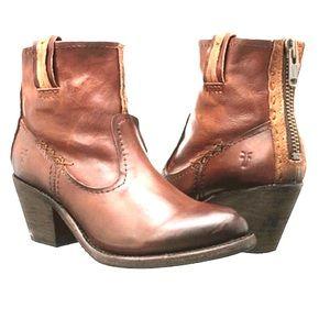 💥Frye Leslie Artisan Short Boot Whiskey NWT💥